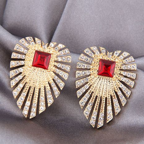 925 silver needle alloy fashion metal simple flashing diamond wings earrings NHSC245506's discount tags
