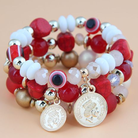 Bracelet en alliage multicouche avec pièce de monnaie Devil's Eye NHSC245505's discount tags