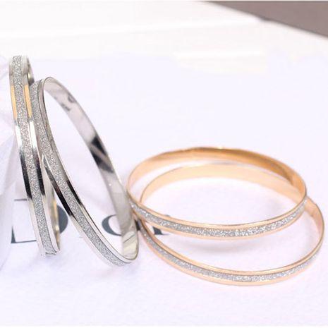 Pulsera salvaje de la aleación de las señoras de plata esmeriladas exageradas de la moda NHMO245569's discount tags