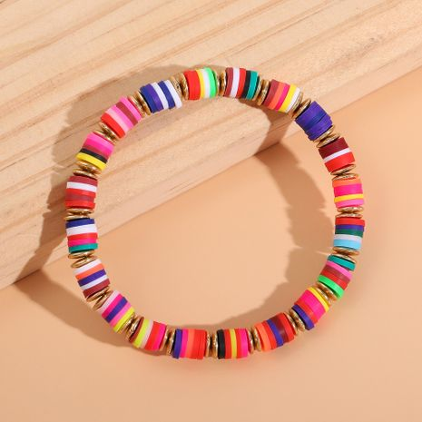 Fashion Bohemian beach mixed color soft ceramic disc bracelet for women NHLL245585's discount tags