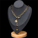 nouvelle mode rtro exagre chane paisse collier en cuivre de style hip hop NHPY245594