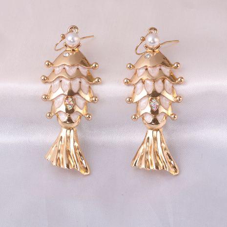 Boucles d'oreilles pour femmes en alliage baroque sauvage animal poisson gras NHJJ245610's discount tags