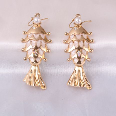 Fashion oily fish animal wild baroque alloy women's earrings  NHJJ245610's discount tags
