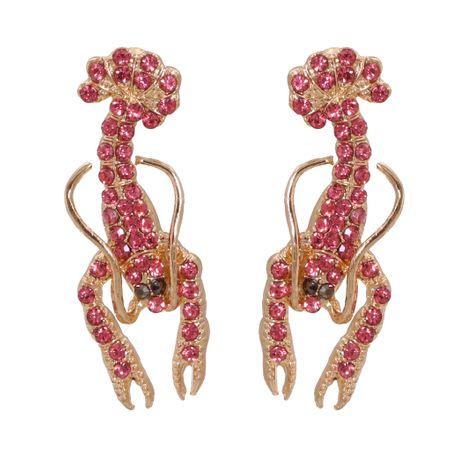 Fashion full diamond lobster alloy retro cute women's earrings wholesale NHJJ245611's discount tags