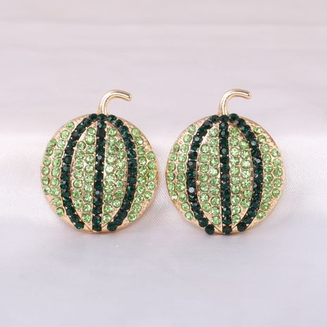 Fashion full diamond watermelon fruit all-match women's earrings NHJJ245613's discount tags