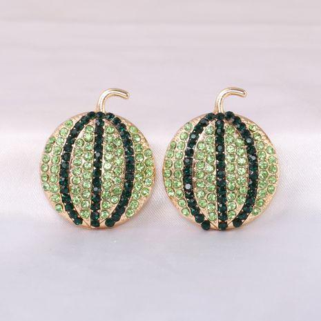 Fashion full diamond watermelon fruit all-match women's earrings NHJJ245613's discount tags