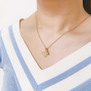 Korean diamond butterfly womens copper short clavicle chain necklace NHAS245619