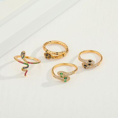 Zircon  Cobra Diamond Snake Adjustable Ring New Color Zirconium Snake Ring wholesale NHGO245646's discount tags