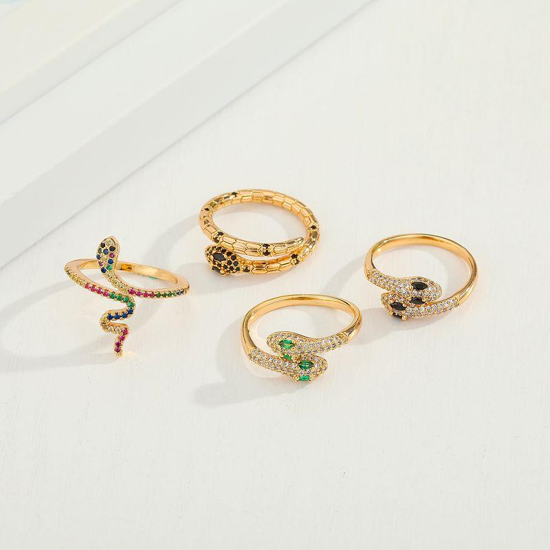 Zircon  Cobra Diamond Snake Adjustable Ring New Color Zirconium Snake Ring wholesale NHGO245646