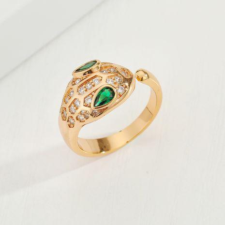 Zircon  Cobra Diamond Snake Adjustable Ring wholesale nihaojewelry NHGO245650's discount tags