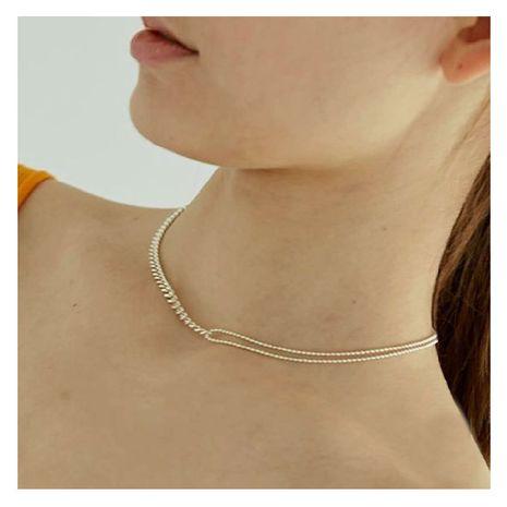 Collier ethnique rétro doré multicouche en alliage simple à la mode NHCT245673's discount tags