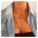 Fashion oval  long multilayer star moon pendant necklace for women NHCT245675