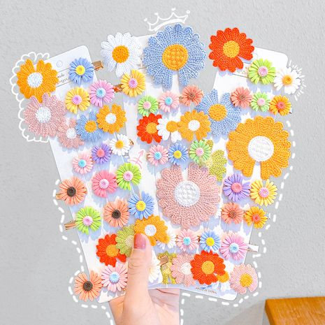 Children's flower bangs  daisy clip set  wholesale NHNA245678's discount tags