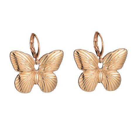 vente chaude nouvel alliage simple boucles d'oreilles papillon boucle d'oreille insecte en gros nihaojewelry NHOA245690's discount tags