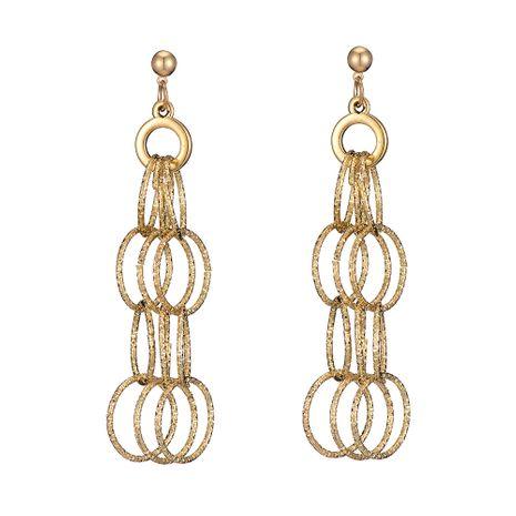 vente chaude de nouvelles boucles d'oreilles longues exagérées boucles d'oreilles rondes géométriques en gros nihaojewelry NHOA245691's discount tags