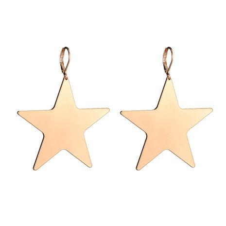 nouvel alliage simple géométrique étoiles à cinq branches boucles d'oreilles brillantes en gros nihaojewelry NHOA245694's discount tags
