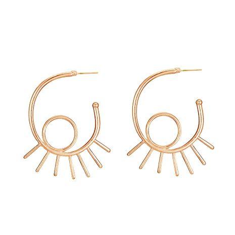 nouvelles boucles d'oreilles cargo en alliage simples boucles d'oreilles oeil du diable creux en gros nihaojewelry NHOA245698's discount tags