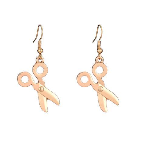 nouvelles boucles d'oreilles en alliage simples ciseaux en gros nihaojewelry NHOA245702's discount tags