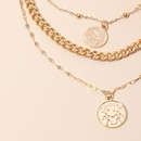 Fashion multilayered wearing medal Devils eye tag clavicle necklace for women NHRN245705
