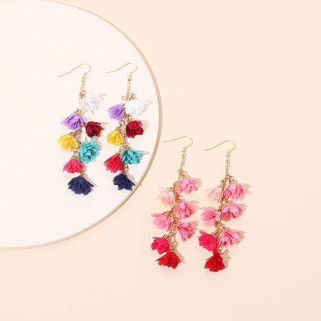 Fashion ethnic style long tassel bohemian color ear hook earrings for women NHRN245711's discount tags