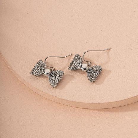 Fashion bow diamond Korean new trendy alloy earrings wholesale NHAI245764's discount tags