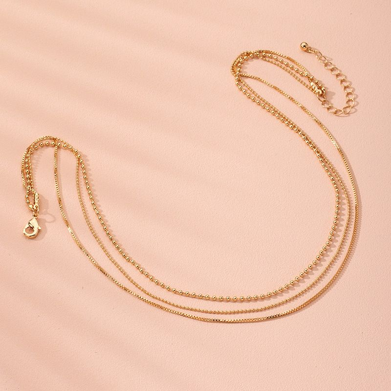 new exaggerated hip hop style multilayer alloy clavicle chain exaggerated necklace wholesale NHAI245780