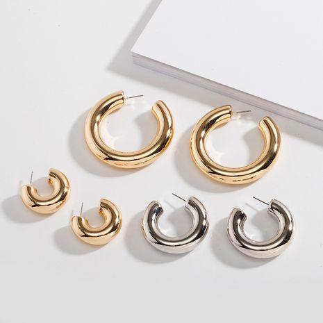 minimalist fashion trend fashion metal C-shaped punk retro earrings for women NHAI245782's discount tags
