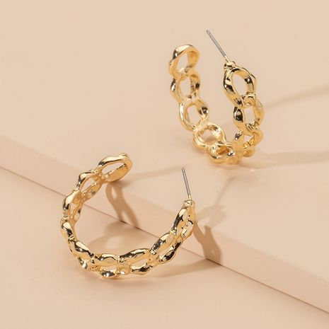 chain-link oval chain hoop earrings wholesale nihaojewelry NHAI245784's discount tags