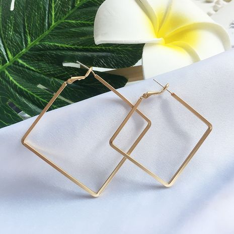 new Korean matte fashion square geometric trend earrings wholesale nihaojewelry NHAI245792's discount tags