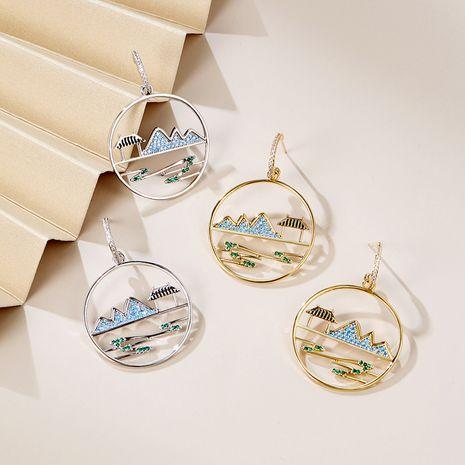 Aiguille en argent 925 de style chinois exagéré rétro élégant nouvelle boucle d'oreille créative à la mode en gros nihaojewelry NHPP245823's discount tags