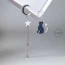 Asymmetric Cat Xingyue Creative 925 Silver Needle Exaggerated Earrings wholesale nihaojewelry NHPP245834