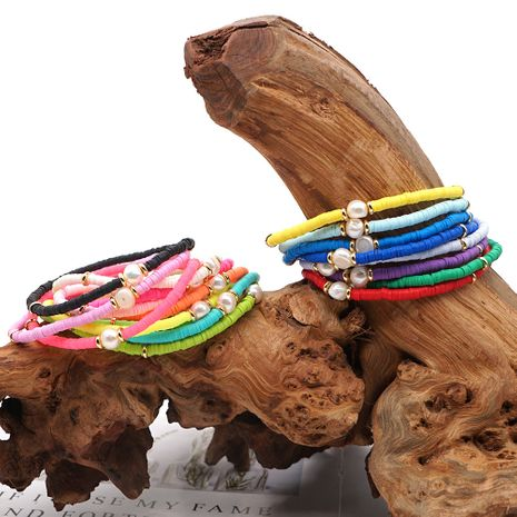 Fashion Accessories Summer Beach Foot Ornaments Wild Colored Clay Natural Freshwater Pearl Anklet NHGW245874's discount tags
