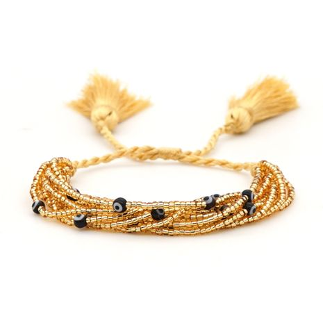 Fashion retro wild ethnic style tassel rice beads hand-woven eyes multi-layer bracelet for women NHGW245891's discount tags