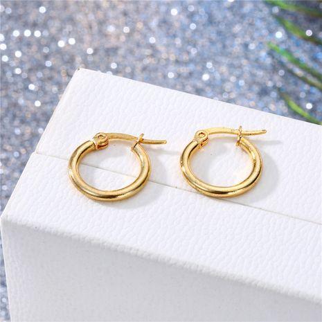 simple en acier inoxydable titane acier petite boucle d'oreille boucle d'oreille vente chaude en gros nihaojewelry NHGO245895's discount tags