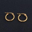 1214mm stainless steel titanium steel earrings fashion simple gold earrings wholesale nihaojewelry NHGO245897