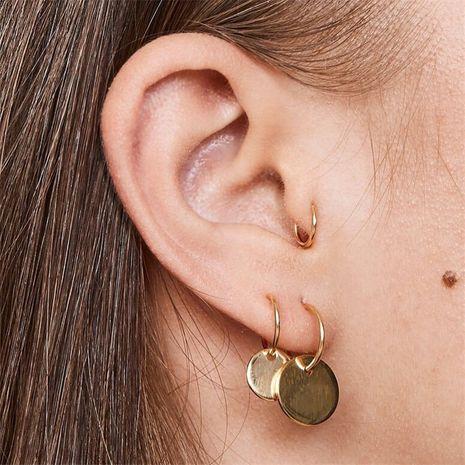 vente chaude boucles d'oreilles simples punk en or mis petites boucles d'oreilles cercle en gros nihaojewelry NHGO245901's discount tags