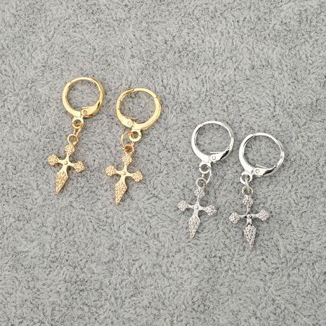 tendance rétro croix pendentif géométrique boucle d'oreille en gros nihaojewelry NHGO245911's discount tags
