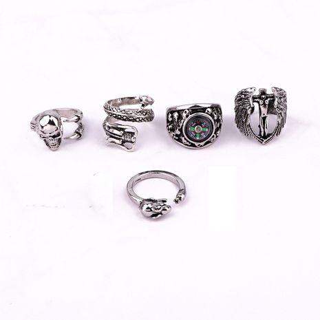 vente chaude bijoux rétro punk hip hop crâne boussole dragon bague pour hommes en gros nihaojewelry NHGO245912's discount tags