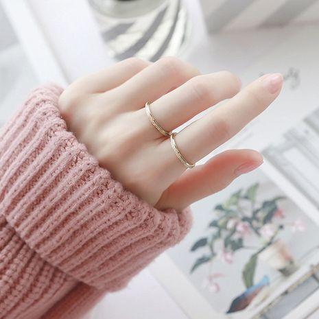 Moda anillo de acero de titanio 316L nuevo anillo chapado en oro de 14K joyería simple al por mayor NHTF245930's discount tags