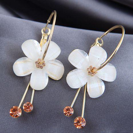 Boucles d'oreilles en alliage de fleurs de couleur pure de la mode coréenne NHSC246000's discount tags