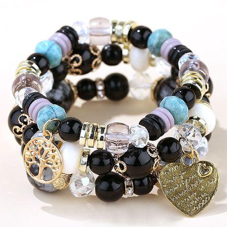 Tendance de la mode concis polyvalent pendentif coeur pêche en métal perles de bonbons bracelet en alliage multicouche NHSC245996's discount tags