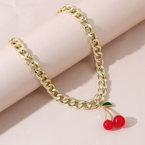 Korean fashion all-match cherry alloy necklace for women NHPS245957's discount tags