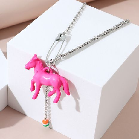 Korean  exaggerated fashion creative wild personality pony necklace NHPS245967's discount tags