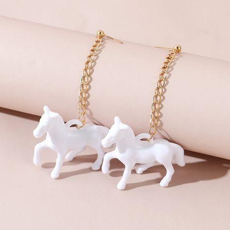 Korean  creative trend wild personality acrylic Trojan earrings NHPS245968's discount tags