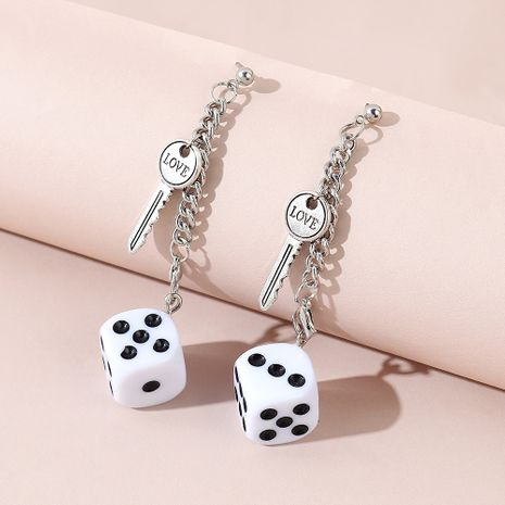 creative exaggerated wild personality  key earrings NHPS245969's discount tags