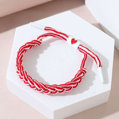 Korean version of all-match creative fashion trend line peach heart painting oil bracelet NHPS245970's discount tags