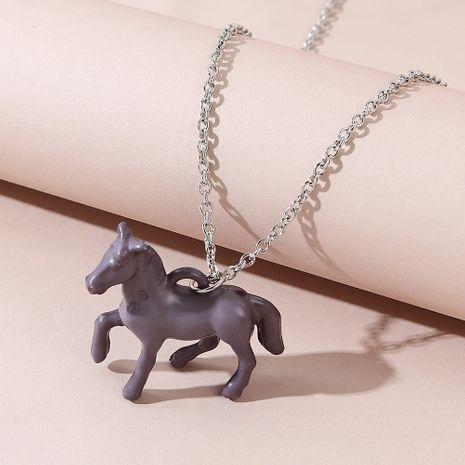 Korean fashion wild  trend Trojan horse necklace NHPS245973's discount tags