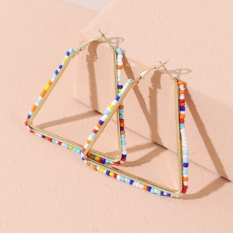 Fashion trend line fashion exquisite wild triangle alloy earrings NHPS245974's discount tags