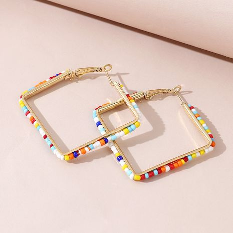 fashion simple  hollow rice bead earrings wholesale NHPS245975's discount tags