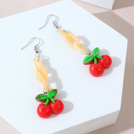 Korean sweet  trendy fruit wild earrings for women wholesale NHPS245977's discount tags